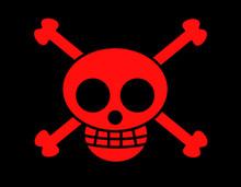 海賊旗(ドクロ赤)