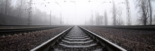 The Railway Track In A Misty M...