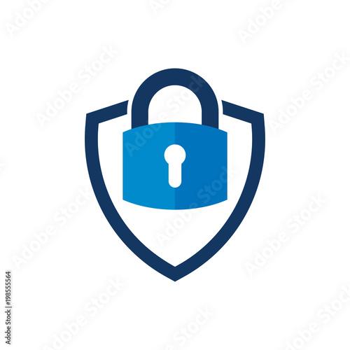 Photo Security Shield Logo Icon Design