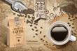 Arabica coffee beans ads