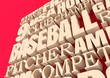 Word Cloud about Baseball Game. 3D rendering