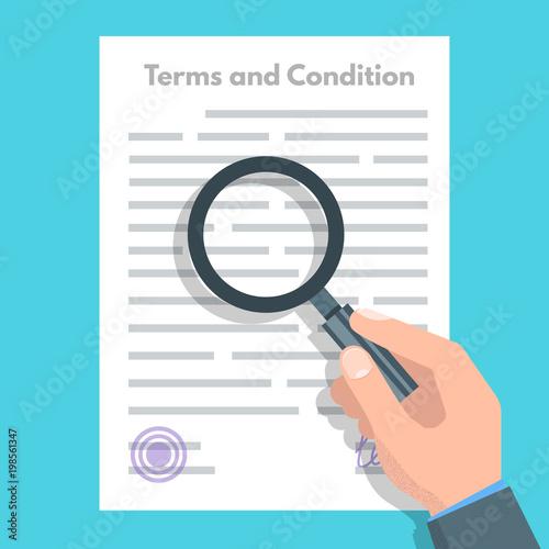 Fotografía  Terms And Conditions concept