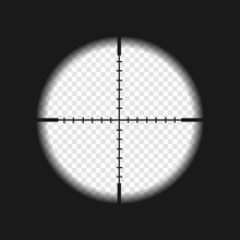 Sniper Sight With Measurement Marks