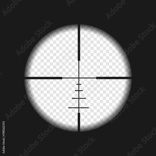 Fototapeta sniper sight with measurement marks
