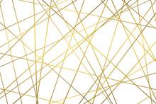 Golden Geometric Abstract Patt...