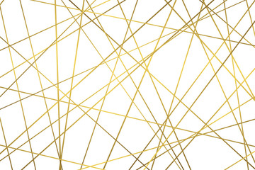 Golden geometric abstract pattern