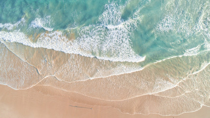 FototapetaAerial View of Waves and Beach Along Great Ocean Road Australia at Sunset