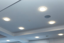 Modern Layered Ceiling With Em...