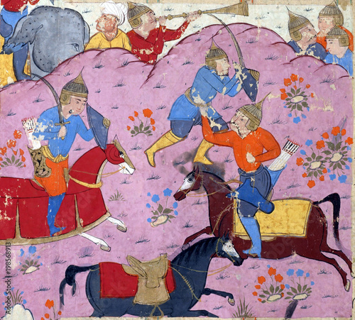 Fotografía Bahman and his courtiers
