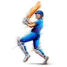 Batsman Playing Cricket Championship Sports