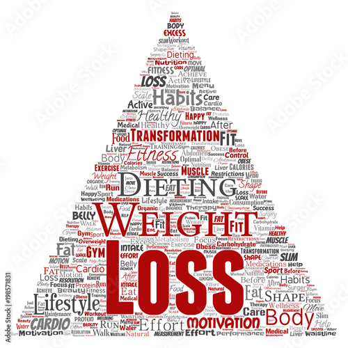 Vector Conceptual Weight Loss Healthy Diet Transformation Triangle Arrow Word Cloud Isolated Background Collage Of Fitness Motivation Lifestyle Before And After Workout Slim Body Beauty Concept Wall Mural High Resolution