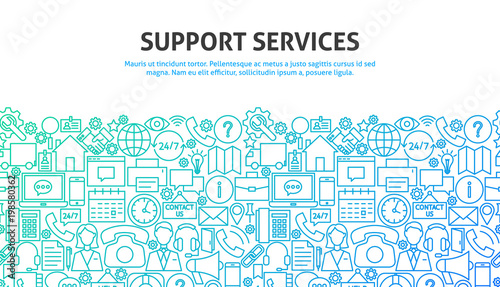 Support Services Concept Canvas Print