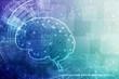 canvas print picture - Human brain 2d illustration