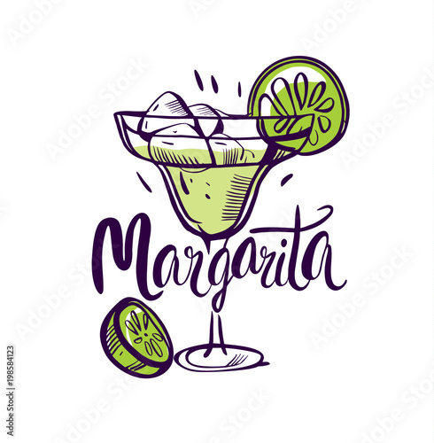 Fotomural Vector illustration Classics margarita