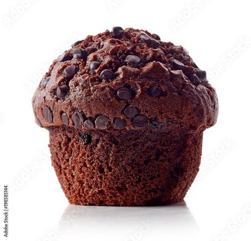 Obraz na plátně Chocolate muffin isolated on white