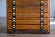 Old Vintage Wooden Cabinet Wit...