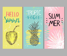 Set Of Abstract Summer Cards