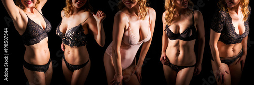 Fotografie, Obraz  Women wearing different sets of lingerie