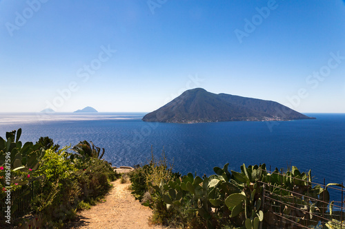 Unforgettable view of some of the Aeolinan islands Canvas Print