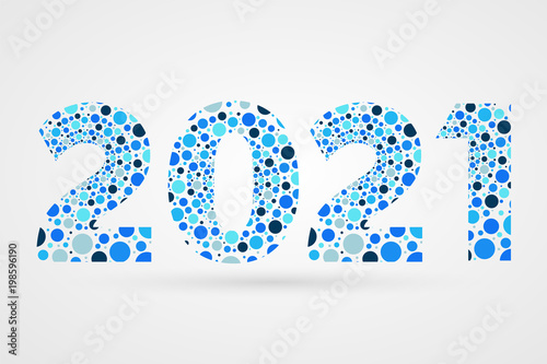 Poster  2021 Happy New Year abstract vector illustration