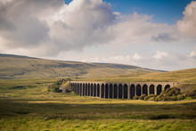 A Warm Sunset Over Ribblehead Viaduct, Yorkshire, England