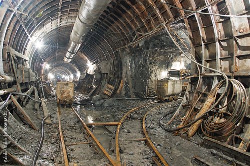 Fotografía  Tunnel in construction