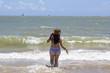 Woman in the sea