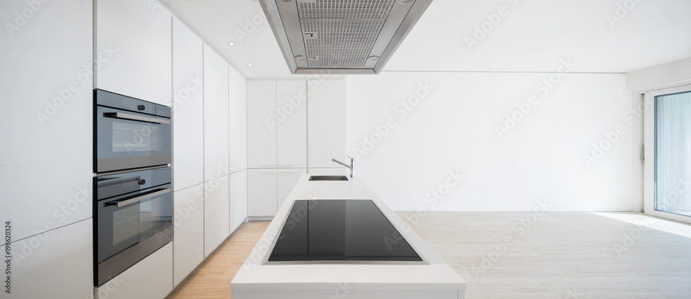 Fototapety, obrazy: Large kitchen with island