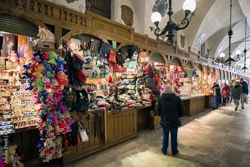Fototapeta Markets with souvenirs in Krakow, Poland obraz