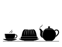 Coffee Cup, Pot And Bundt Cake