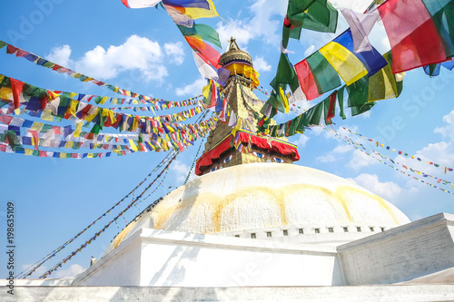 Foto op Plexiglas Nepal Boudhanath Stupa in Kathmandu, Nepal