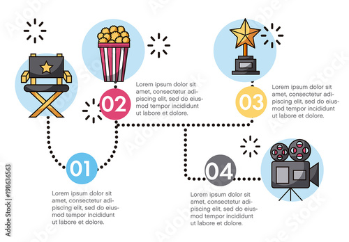 Movie-Themed Infographic with Illustrations. Kaufen Sie diese ...