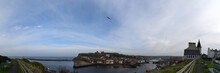 Panorama Of Whitby Town And Harbor, North Yorkshire, UK - Sep 2017