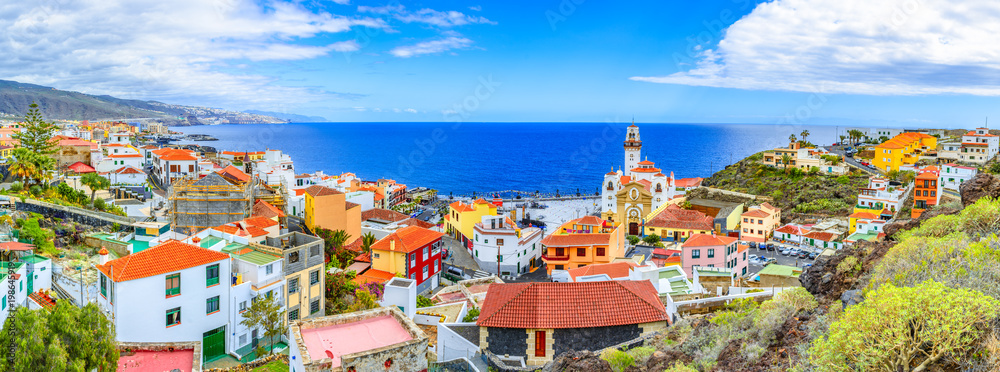 Fototapety, obrazy: Candelaria, Tenerife, Canary Islands, Spain: Overview of the Basilica of Our Lady of Candelaria, Tenerife landmark