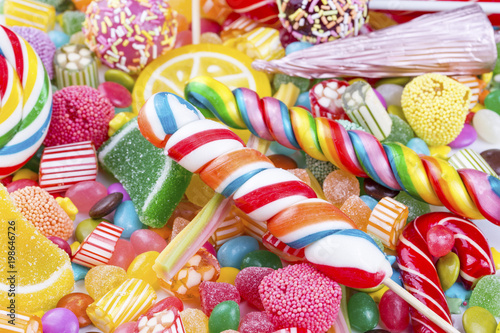 Garden Poster Candy Colorful candies
