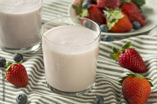 Fotografie, Obraz  Healthy Organic Drinkable Yogurt Berry Kefir