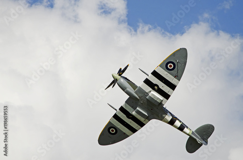 A shot of a World War Two Fighter Aircraft (Spitfire). Tablou Canvas