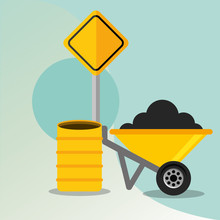 Construction Wheelbarrow Barre...