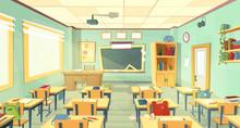 Vector School Classroom Interi...