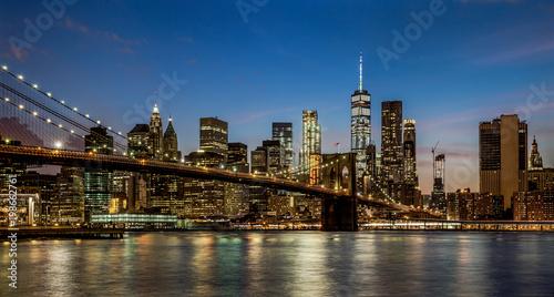Pinturas sobre lienzo  Panorama new york city at night