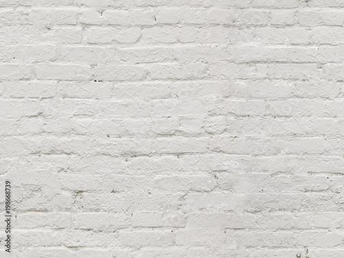 Foto op Plexiglas Wand Seamless white brick background.