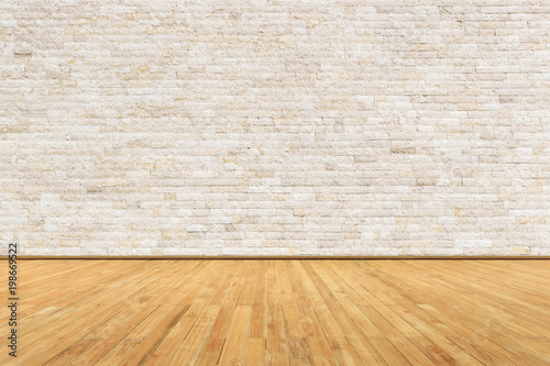 Empty room with wall and wooden floor Canvas Print