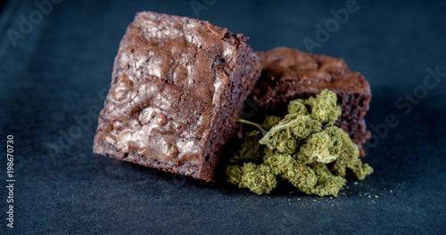 Fotografie, Obraz  Marijuana Edible Brownie