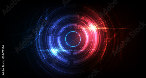 Photo  abstract circle sci fi futuristic technology innovation concept background