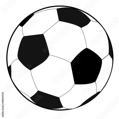 Schwarzweisser Fussball Grafik Weisser Hintergrund Buy This