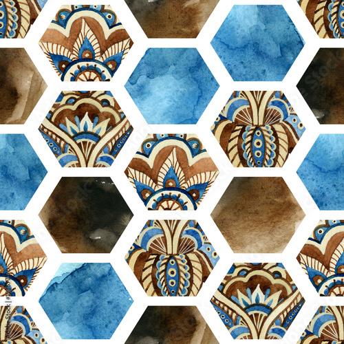 akwarela-szesciokat-z-tekstury-koloru-papieru-wody-i-ornamentem-paisley