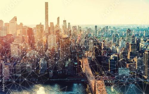 Fotografia  Links with the New York City skyline near Midtown