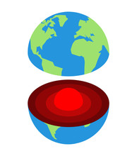 Earth Core. Center Of Planet. ...
