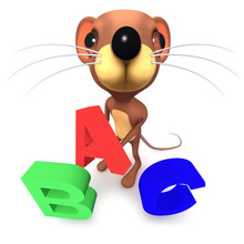 3d Funny Cartoon Funny Mouse C...