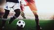 Leinwandbild Motiv soccer footballer during match in the stadium